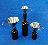 Stainless Steel Funnel Set, 3, 4 and 5 Inch