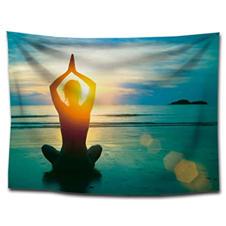 India Yoga Meditación con luz solar pared Alfombra Mental ...