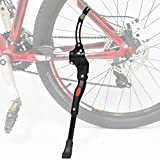 "DRBIKE Adjustable Bicycle Bike Kickstand for 24"" 26"" 28"" 700c, Aluminum Alloy Mountain Bike Side Stand, Black"