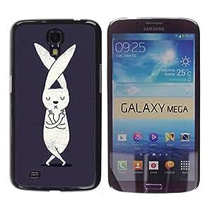 MOBMART Carcasa Funda Case Cover Armor Shell PARA Samsung Galaxy Mega 6.3 - Yoga Crossed Bear