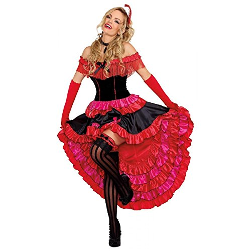 [Saloon Girl Can Can Cabaret Dancer Dress Women's Adult Costume Reg & Plus Sizes (XL)] (Saloon Girl Adult Womens Costumes)