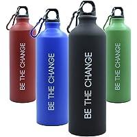 Botella de Agua 800ml, Aluminio - Reutilizable, Muy Ligera y sin BPA, Ideal para IR al Trabajo, Montaña o Senderismo