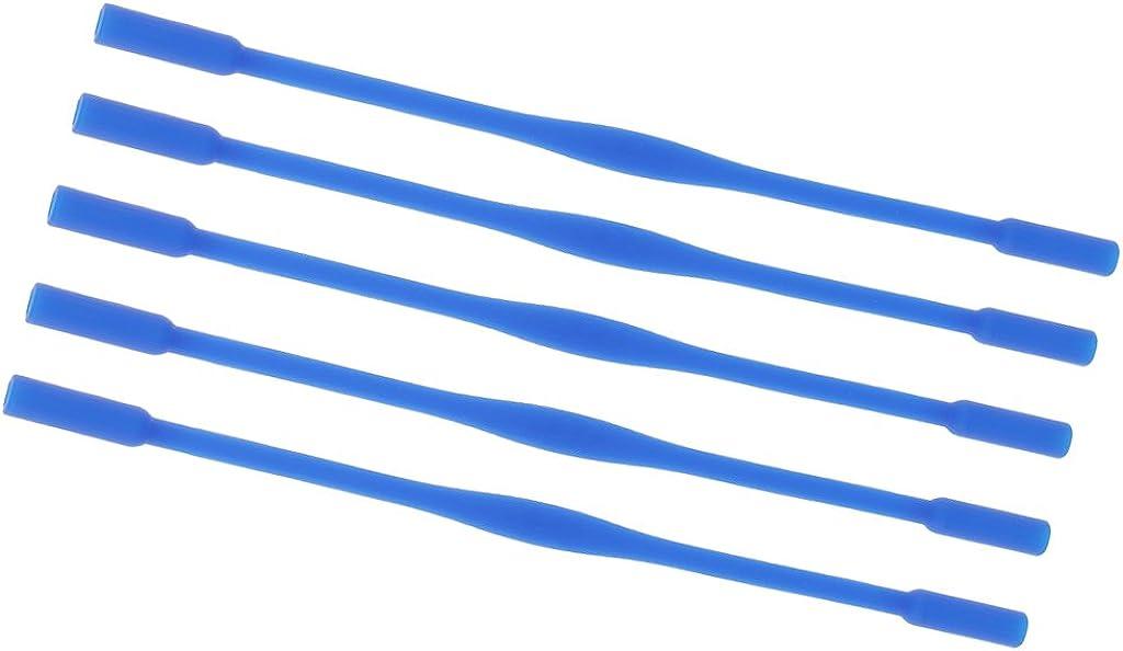 perfk 5pezzi di Cinturino Non-slip Bambini Silicone Banda Cordless Questo Portaoggetti Leggero e Sottile per Occhiali