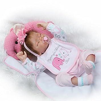Amazon.es: NPKDOLL 22 pulgadas 55cm Reborn Doll Baby Muñeca ...