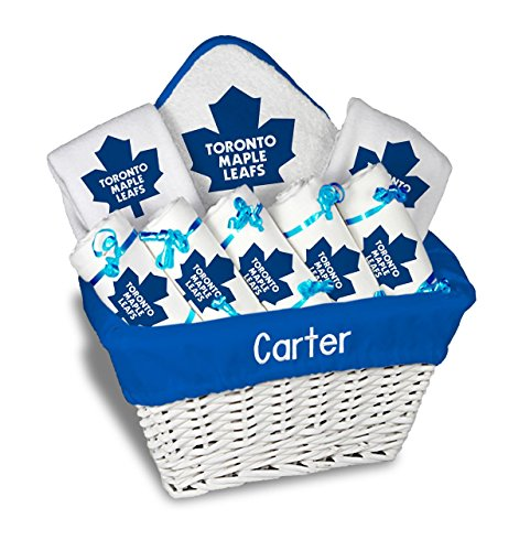 Designs by Chad and Jake Baby Personalized Toronto Maple Leafs Large Gift Basket One Size White