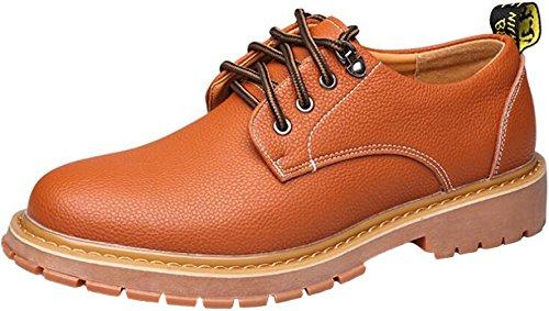 Ppxid Heren Britse Stijl Lace Up Casual Werkschoenen Oranje