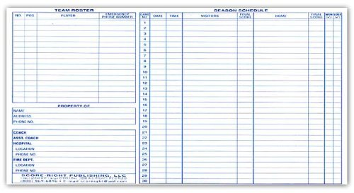 Score Right Basketball Scorebook by Score Right