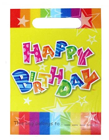 10 Childrens Happy Birthday Party Bags Kids Fillers Gifts Favours