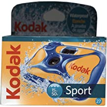 Kodak 8004707 Sport Disposible Camera, 27 Exposure, Waterproof up to 50-Feet