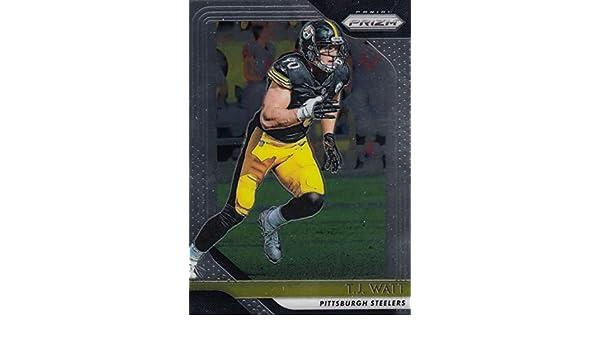 Amazon.com  2018 Panini Prizm  34 T.J. Watt Pittsburgh Steelers NFL  Football Trading Card  Collectibles   Fine Art d20bf60b2