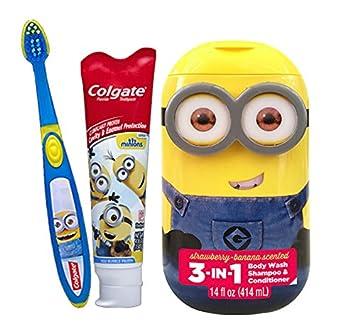 minion bathroom set. Despicable Me  quot Minions 2pc Bright Smile Oral Hygiene Set 1 Amazon com