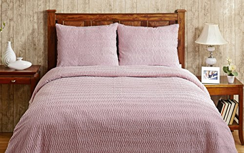Better Trends / Pan Overseas Natick 100% Cotton Chenille Tufted Bedspread, Full, 96