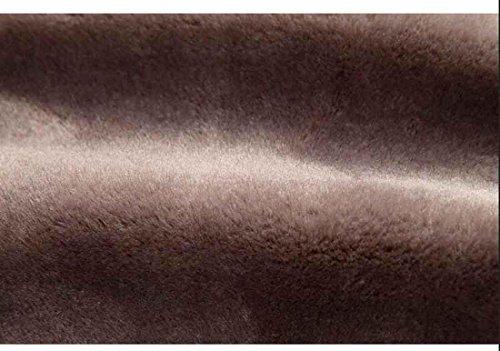 cuero de Chaqueta Casual de 48 Ropa Black gruesa hombres flocado de invierno OUTERWEAR los Zn5qYwpx5