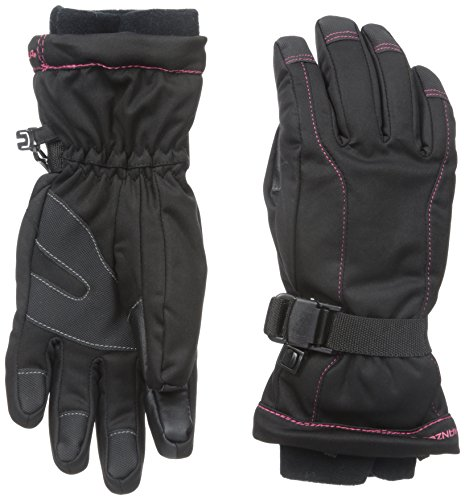 Manzella Women's Fahrenheit 5 Touch Tip Gloves, Black, Medium