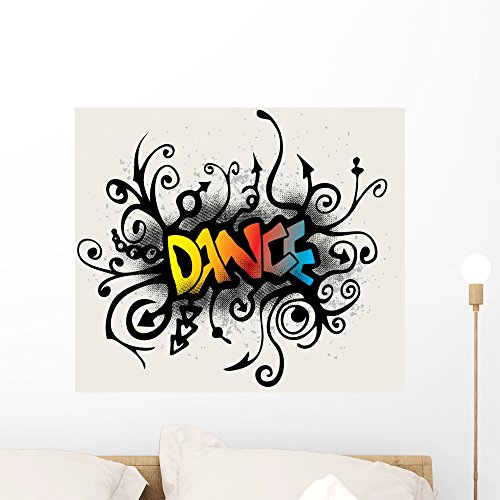 Wallmonkeys Vines Growing into a Dance Pattern Wall Decal Peel and Stick Graphic WM158602 (24 in W x 21 in H) by Wallmonkeys (Image #4)