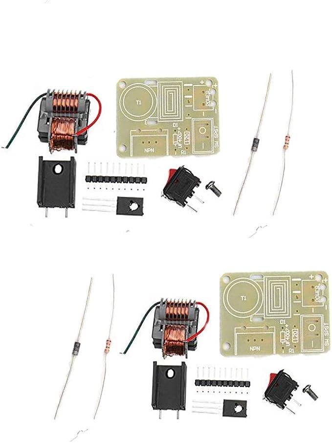 Comidox 15KV Boost generador de Alto Voltaje de Alta frecuencia Transformador inversor Arco Encendedor Bobina módulo desmontado Partes para Uso DIY 2 ...