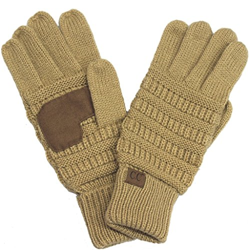 BYSUMMER C.C Smart Touch Tip Cold Weather Best Winter Gloves (Camel)