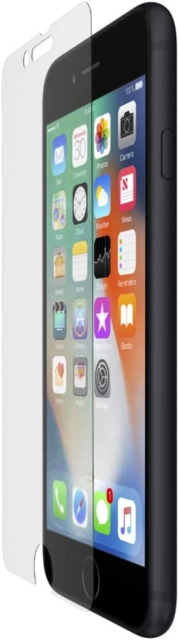 Belkin ScreenForce InvisiGlass Ultra Corning Glass Ion-Exchange Strengthened Screen Protector for iPhone SE, iPhone 8, iPhone 7, iPhone 6S and iPhone 6 - Transparent