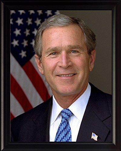 Frame Bush (George W. Bush 8x10 High Quality Framed Photo)