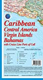 Caribbean, Central America, Virgin Islands and Bahamas Map with Cruise Line Ports of Call