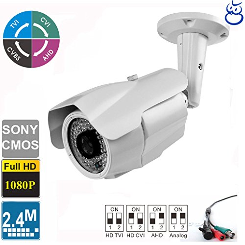 License Plate Recognition HD TVI 4-in-1 Camera 2.4MP 1080P 5-50mm Varifocal Lens 84 IR LEDs - License Plate Recognition