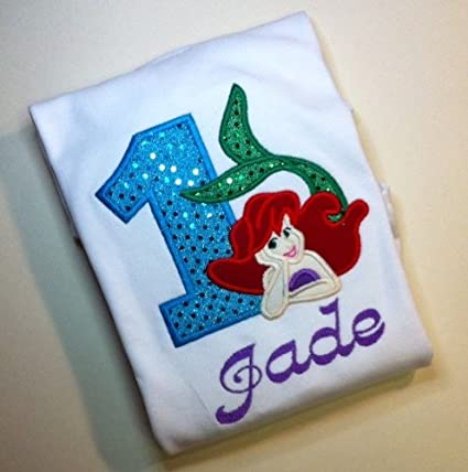 Amazon Ariel Little Mermaid Girls Birthday Shirt Everything Else