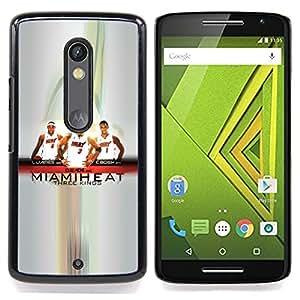 - Miami Basketball Team - - Cubierta del caso de impacto con el patr??n Art Designs FOR Motorola Verizon DROID MAXX 2 / Moto X Play Queen Pattern