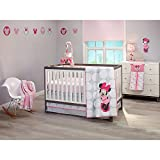 Disney Baby Minnie Mouse Polkadots Crib Bedding (4 Piece Crib Set) by NoJo