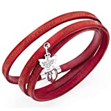 Holyart Amen bracelet, Angel of God in Italian, red charm, 54 cm (21.28 inc.)