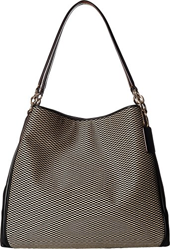 COACH Women's Exploded Reps Phoebe Shoulder Bag Milk/Black One Size by Coach