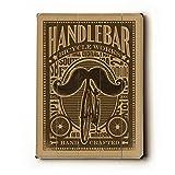 Handlebar Mustache 14''x20'' Planked Wood Sign Wall Decor Art