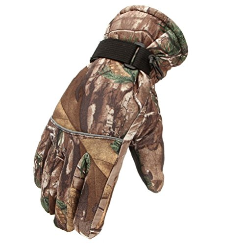Men Winter Warm Gloves Windproof Waterproof Skiing Snow Riding Camouflage Sport