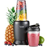 VonShef 220 240 Volts Ultra Powerful 1000 WATTS Blender / Smoothie Maker Large & Small CUPS Bundle With Dynastar Plug Adapters & Multiple Cups | 220v 240v (NOT FOR USA)