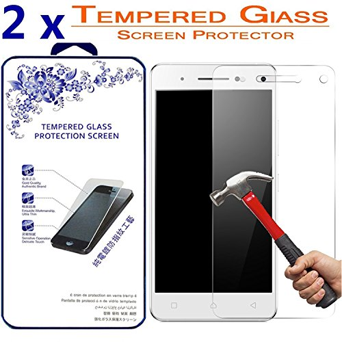 2x Glass Screen Protector For Lenovo VIBE S1 , [2 Pack] Ballistic Tempered Glass Screen Protector [Anti-scratch, 0.3mm] (For Lenovo VIBE S1)