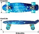 ENKEEO 22 Inch Cruiser Skateboard Plastic Banana