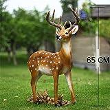 Danmu 1pc Polyresin Deer Statue Home Garden Decor (47 x 16 x 65cm)