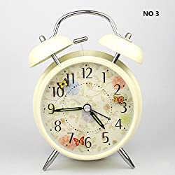 HITO(TM) 4 Silent Quartz Analog Twin Bell Alarm Clock with Nightlight and Loud Alarm by cerl-tech