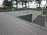Frameless Glass Balcony Balustrades 12mm and 17.5mm Thickness With Base Channel, Cut To Measure, Bespoke, Custom Made Clear, Frosted and Tinted Glass Balustrades Also Available (17.5mm Thick)