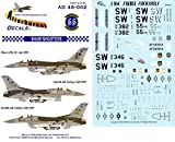 Afterburner Decals 1:48 Shaw Shooters for Hasegawa Decal Sheet #AD48-002