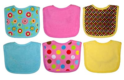 Neat Solutions 6 Pack Print/Solid Bib Set, Colors May Vary by Neat Solutions