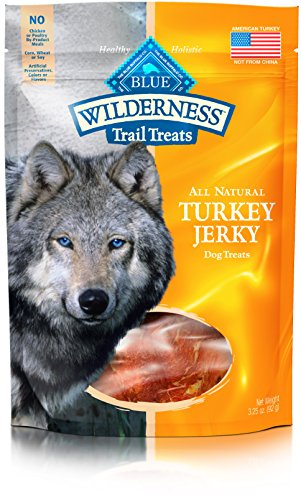 Blue Buffalo Wilderness Grain-Free Turkey Dog Jerky Treats, 3.25 oz (Buffalo Turkey)