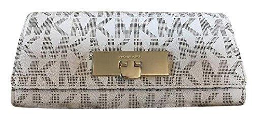 Beige Signature Flap - Michael Kors Callie Signature Carryall Wallet