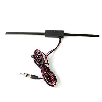 KFZ Autoradio Radio Antenne Scheibenantenne Aktiv NS01 AM/FM mit Verstärker für Innen Fenster-Antenne Klebeantenne selbstklebend Auto- & Fahrzeugelektronik
