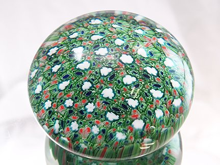 (M Design Art Handcraft Glass Emerald Millefiori Paperweight PW-1104 [Kitchen])
