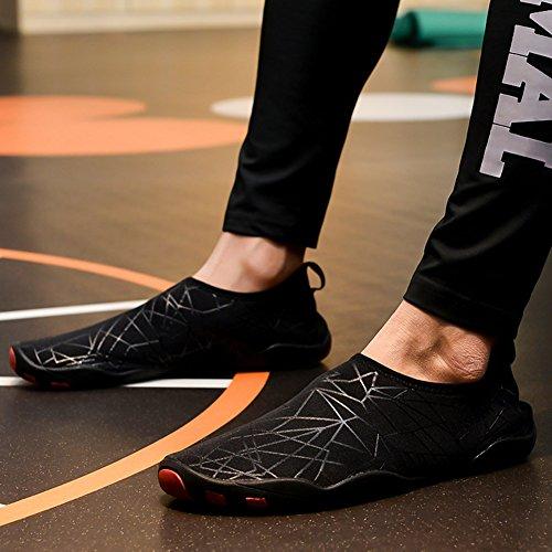 de Secado de Surf Zapatos Unisex con Aqua Orificios Descalzo Rápido Yoga para Goma Zapatos Suela Agua Insun Negro Buceo Playa de Deportivos Natación 6IYvYnU