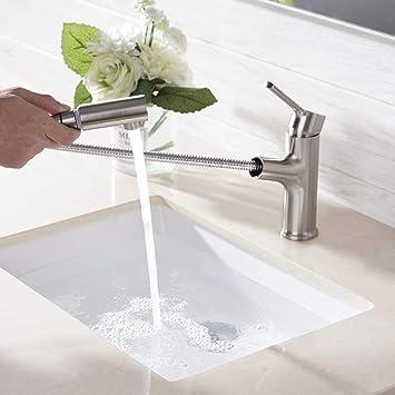 Amazon.com: Comllen - Grifo para lavabo de baño (níquel ...