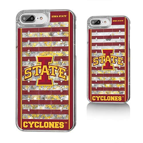 Keyscaper NCAA Iowa State Cyclones Apple iPhone Glitter Case, One Size, Clear