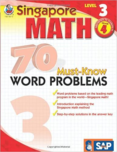 Amazon.com: 70 Must-Know Word Problems, Grade 4 (Singapore Math ...