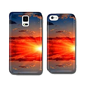 sunset over water cell phone cover case Samsung S5
