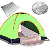 2-4 Person Instant Automatic Pop Up Tent,Waterproof Double Layer Camping Ultralight Backpacking Tents,